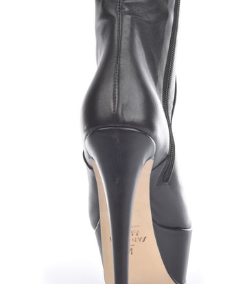 Sanctum High Italian knee boots ISIS with platform heels in real leather