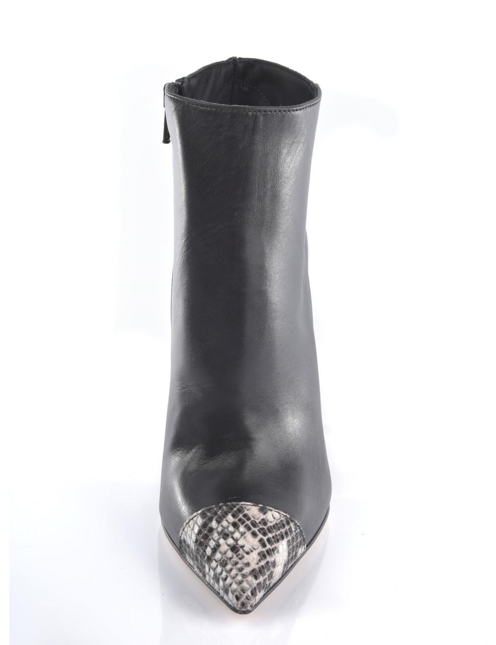 Sanctum Hohe italienische Stiefeletten VESTA mit Python-Stöckelschuhen aus echtem Leder