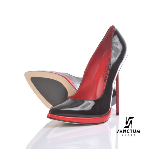 Sanctum PHOEBE - EXTREME STILETTO ZWART RODE PUMPS