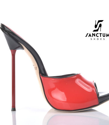 Sanctum Extrem hohe italienische Pantoletten MAIA mit Metallnadel-Absätzen