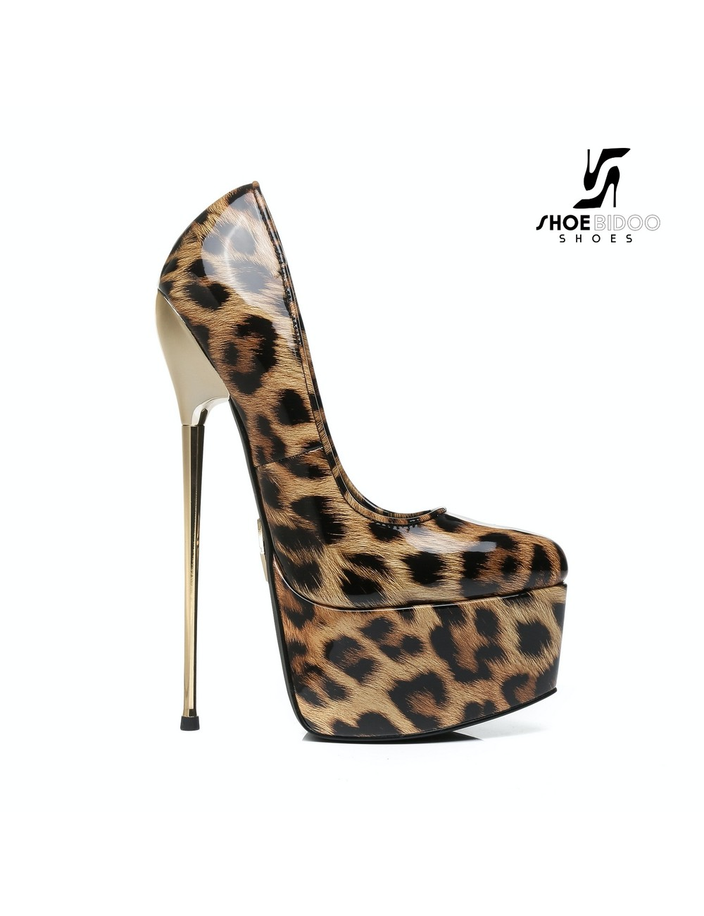 Giaro SLICK Leopard skin ESCALA SLICK Fetish platform pumps