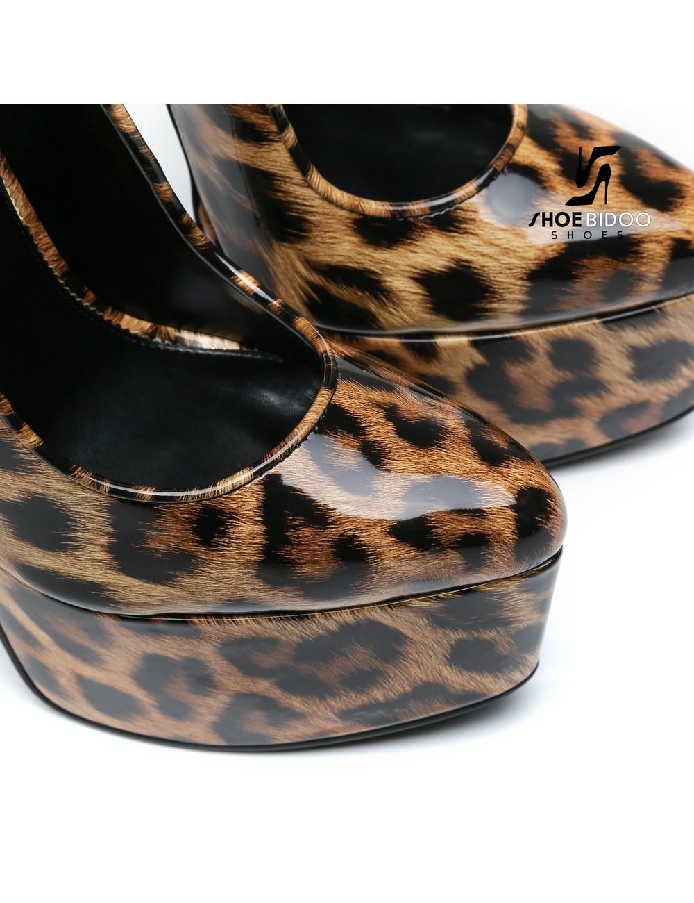Giaro SLICK Leopard glänzende ESCALA Giaro Ultra Fetish Plateau pumps