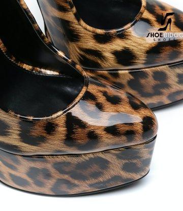 SLICK Leopard skin ESCALA SLICK Fetish platform pumps