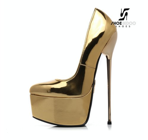 Giaro SLICK HERO ESCALA | GOLD glänzende | PLATTFORM PUMPS