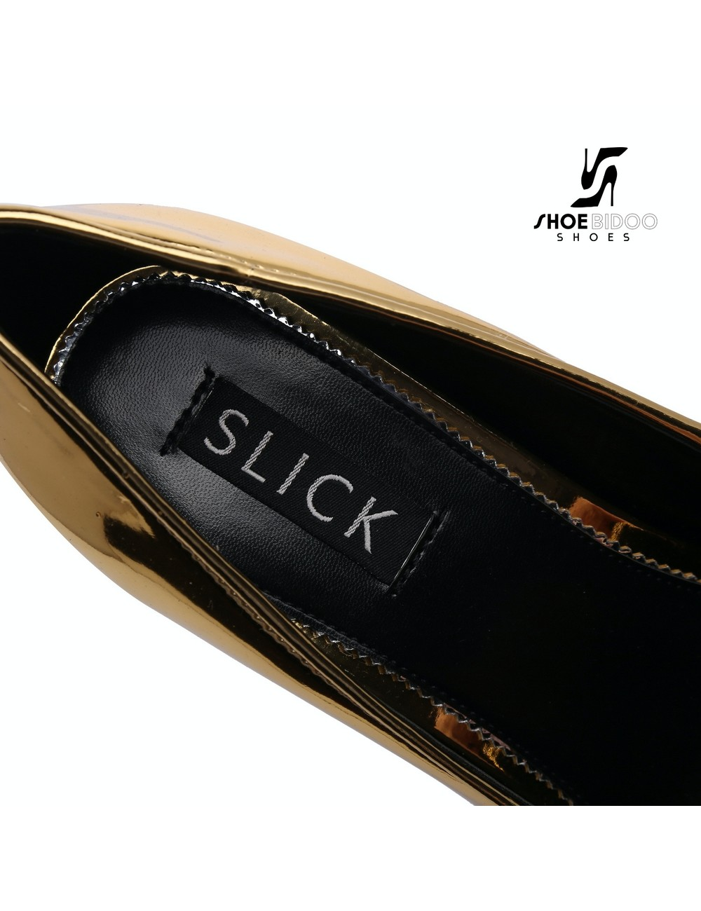 Giaro SLICK Gouden glanzende ESCALA SLICK Fetish platform pumps