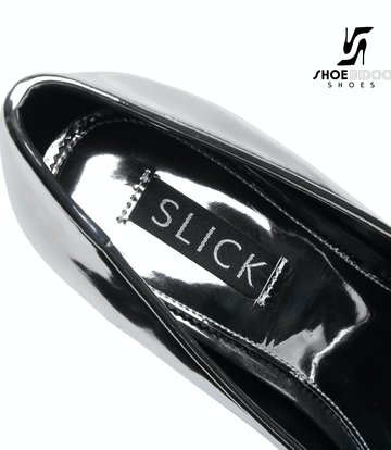 Giaro SLICK Silber glänzende ESCALA Giaro Ultra Fetish Plateau pumps