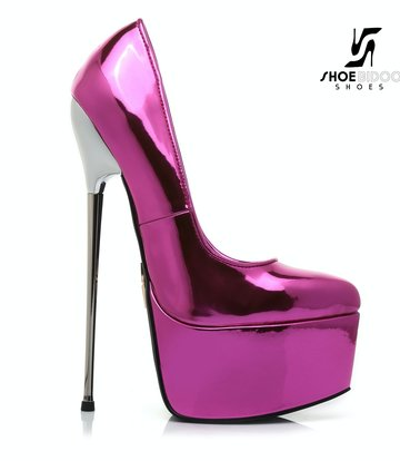 Giaro SLICK Liquid FUCHSIA Giaro SLICK ESCALA platform pumps with silver heels