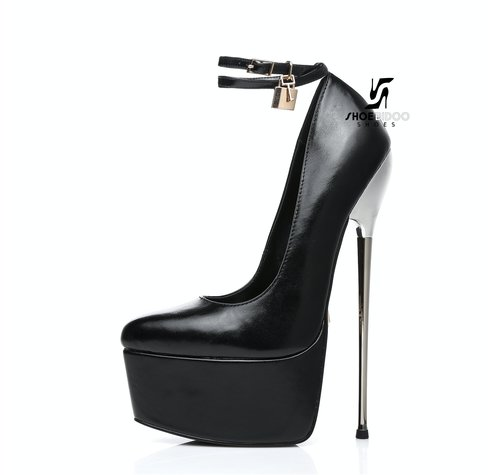 Giaro SLICK HERO ESSENCE | ZWART | PLATFORM BONDAGE PUMPS
