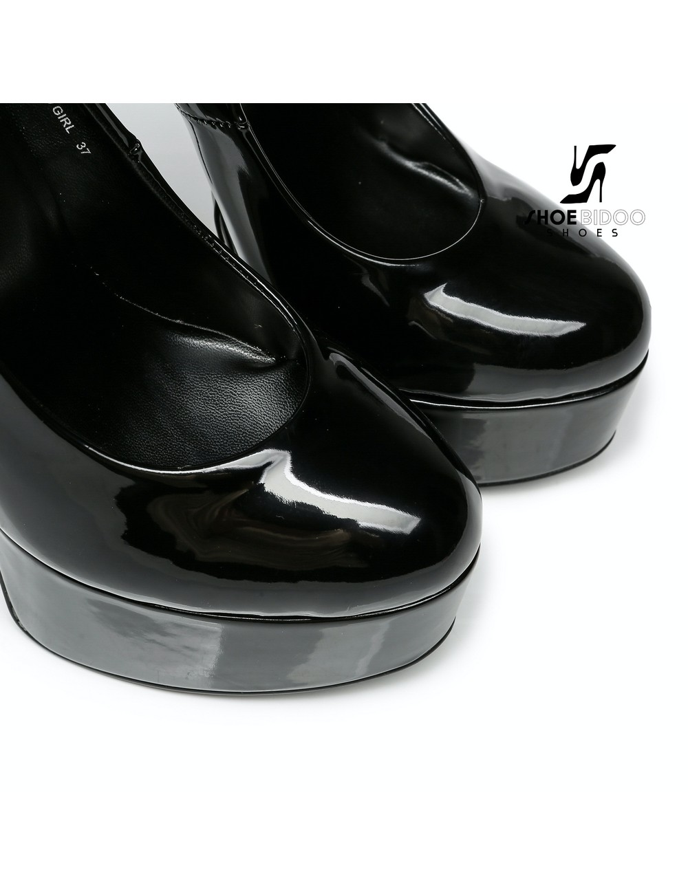 "Giaro Black  shiny Giaro ""Bad Girl"" platform pumps with spikes"