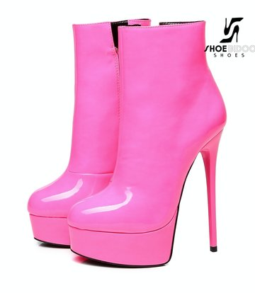 """Giaro Pink Shiny Giaro """"Galana"""" ankle boots"""