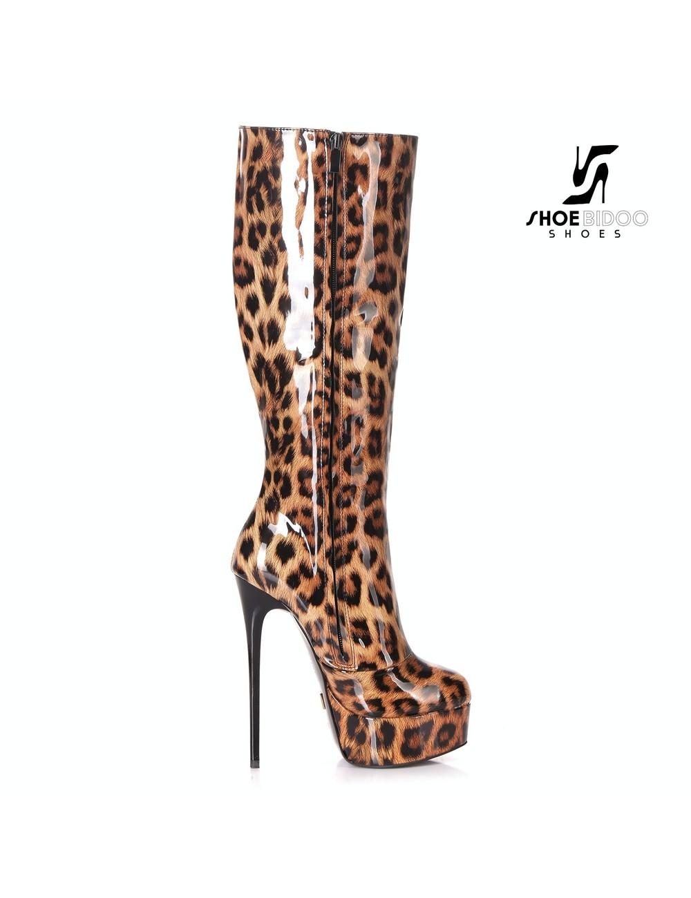 "Giaro Shiny Leopard Giaro ""Galana"" knee boots"