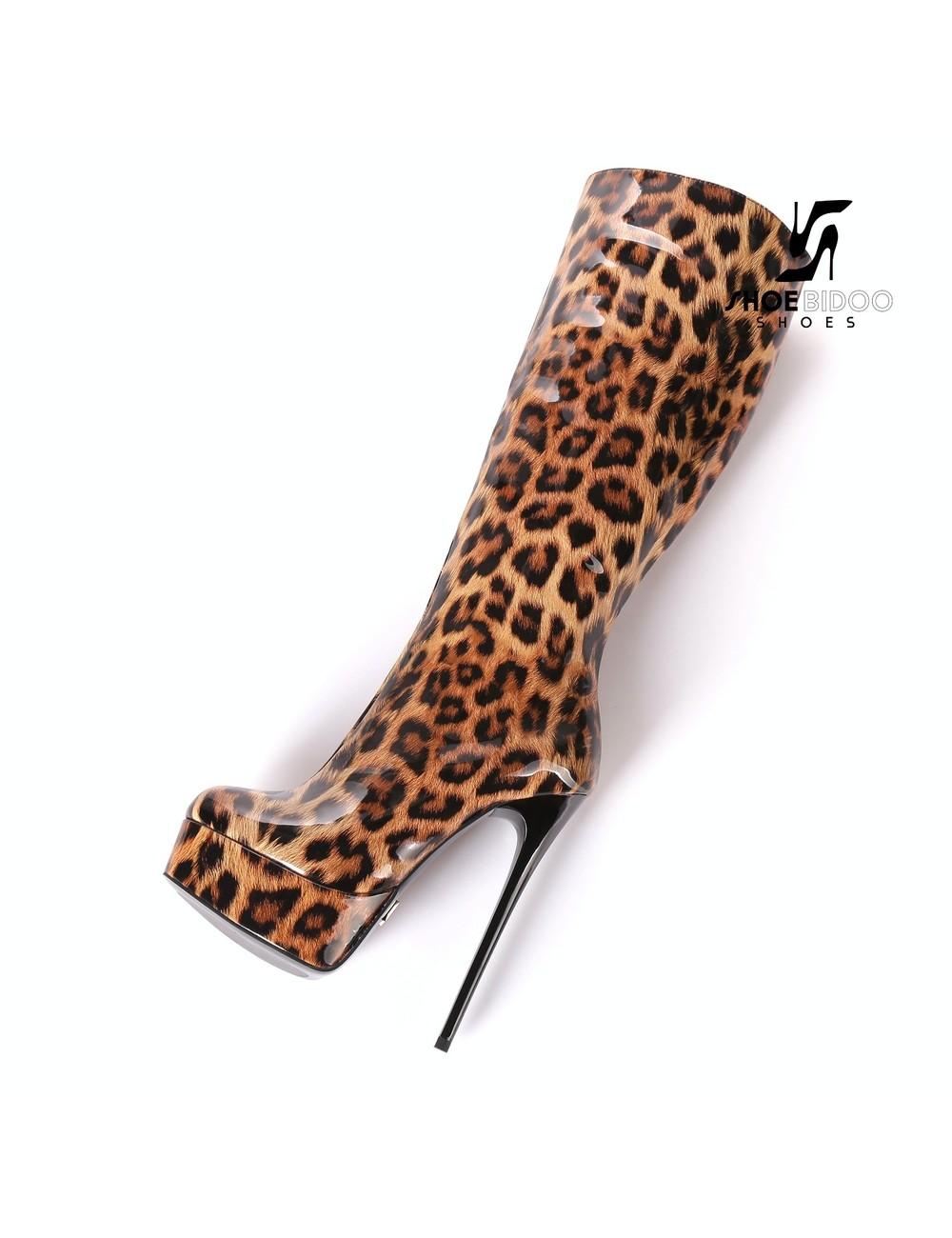 "Giaro Glanzende Leopard Giaro ""Galana"" knielaarzen"