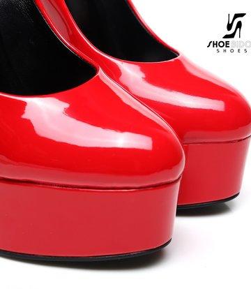 "Giaro Red  shiny Giaro ""Galana"" platform pumps"