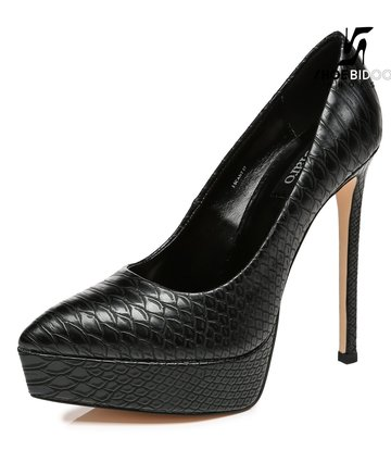 Giaro Giaro Platform pumps SCANT in zwarte slangenprint