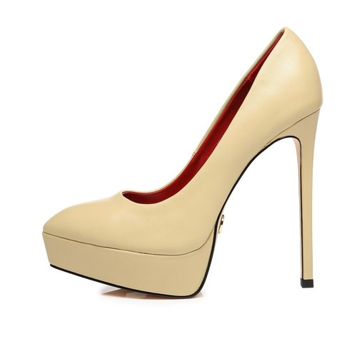 Giaro SCANT | NUDE | PLATFORM FASHION PUMPS