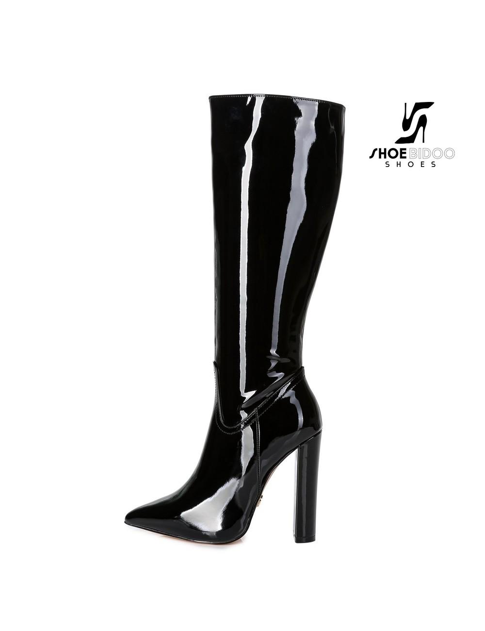 Giaro Giaro fashion knee boots TAKEN in black patent