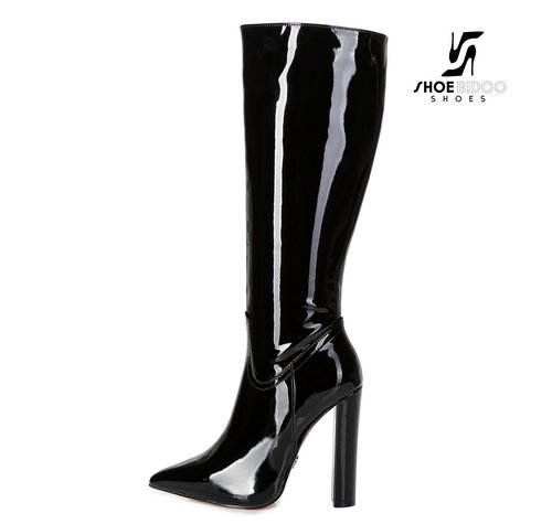 Giaro TAKEN | ZWART LAK | FASHION KNEE BOOTS