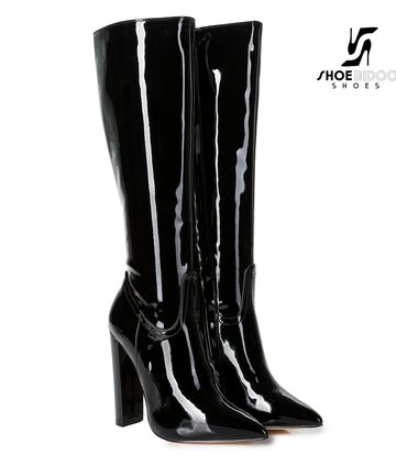 Giaro Giaro fashion knielaarzen TAKEN in zwart lak