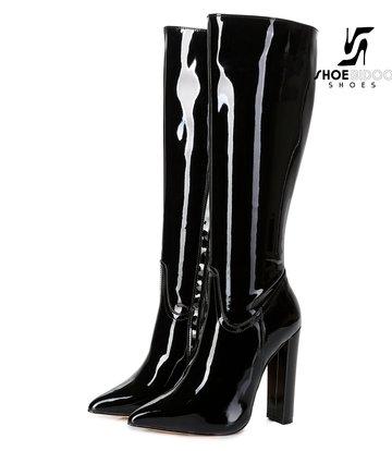 Giaro Giaro Mode Kniestiefel TAKEN in schwarzem Patent