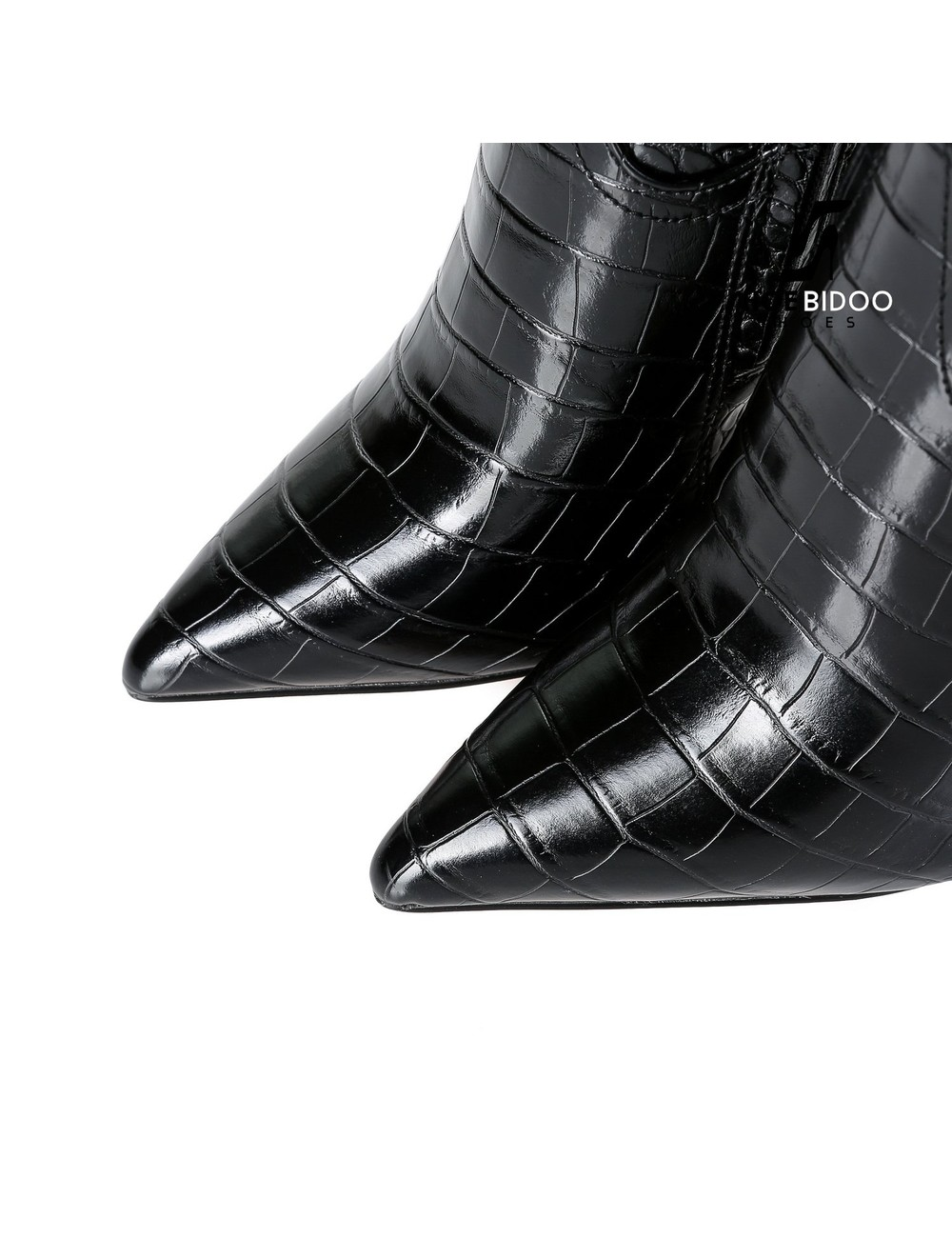 Giaro Giaro fashion knee boots TAKEN in black croc print