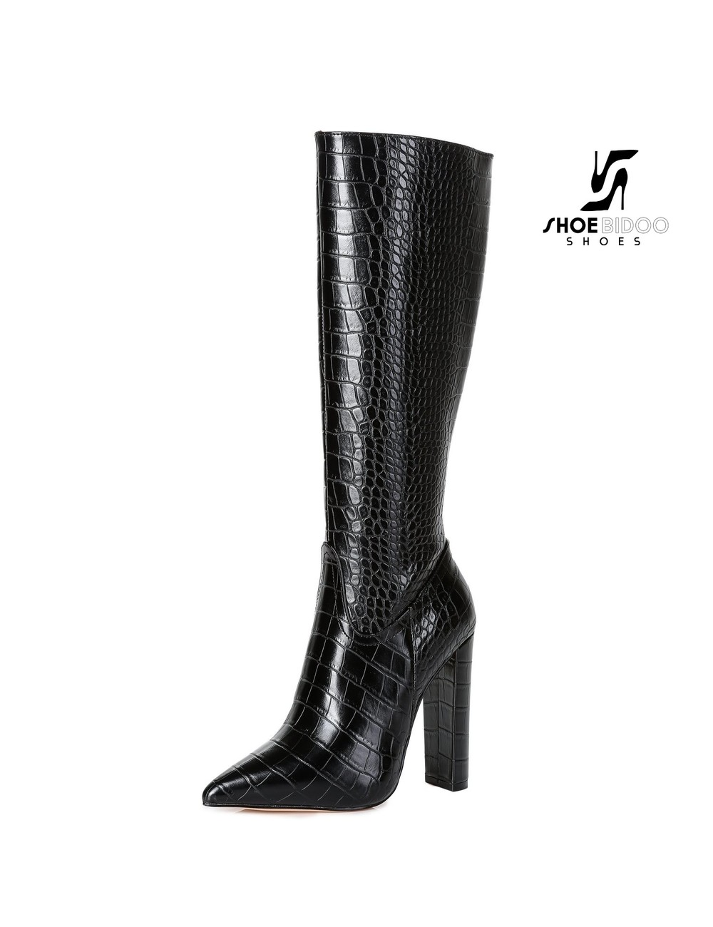 Giaro Giaro fashion knielaarzen TAKEN in zwart krok print