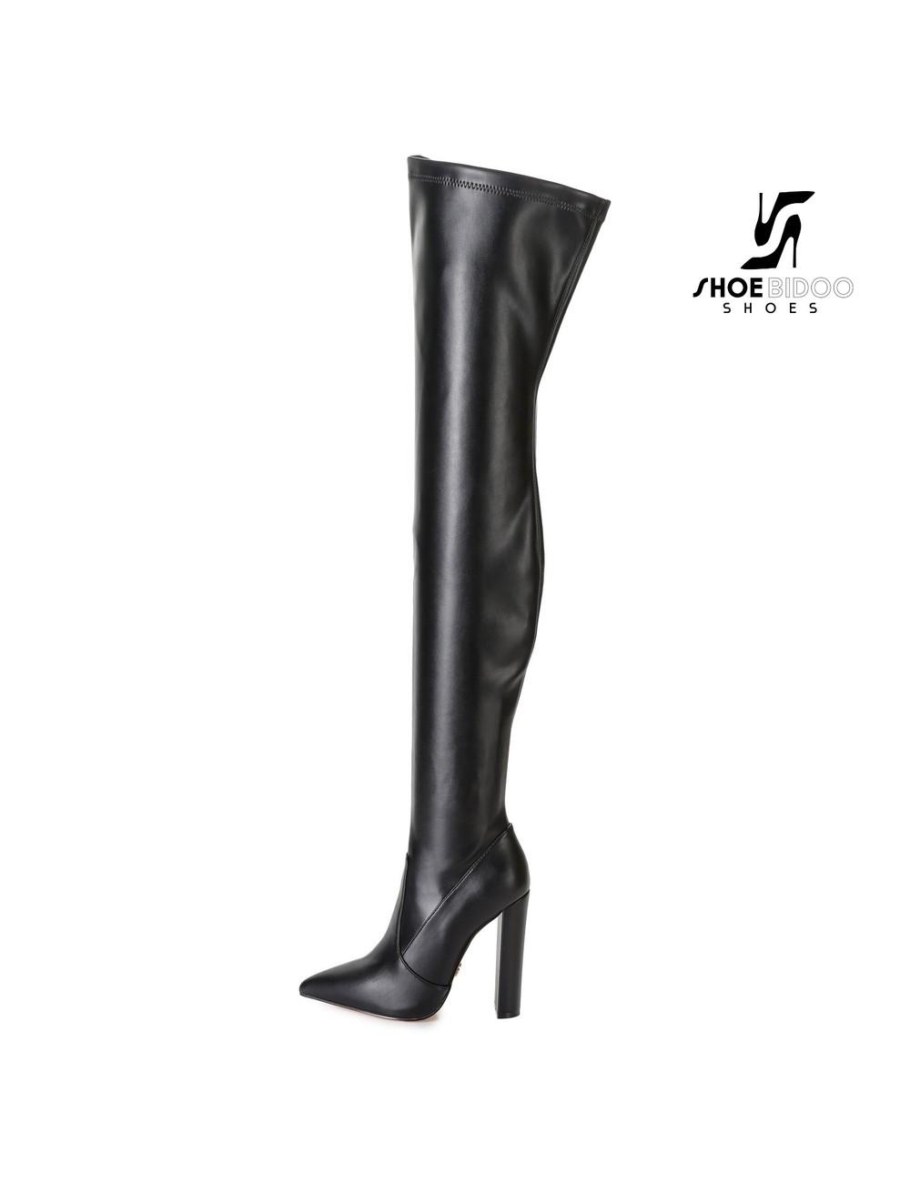 Giaro Giaro fashion thigh boots TRINKET in black mat