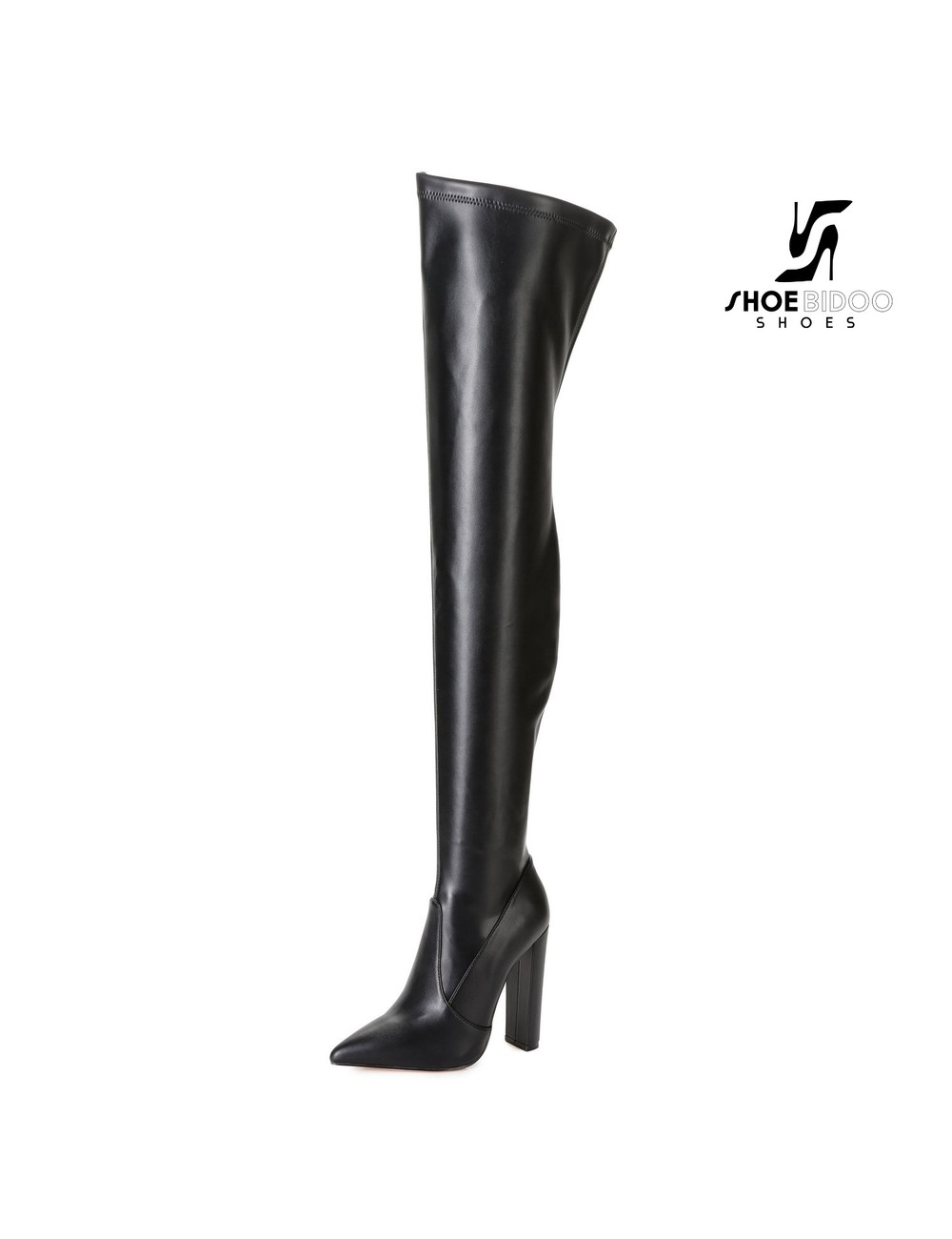 Giaro Giaro Oberschenkel Stiefel TRINKET in schwarzer Matte
