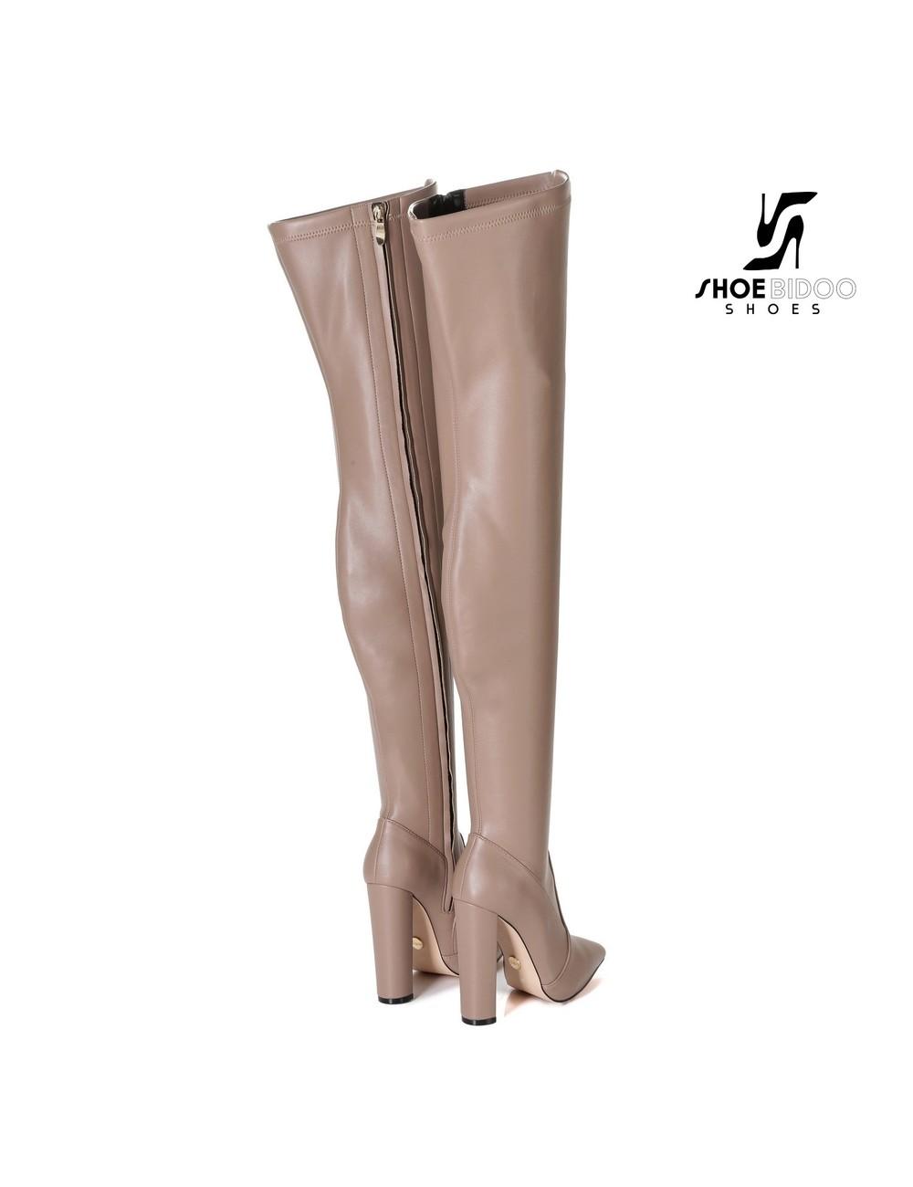 Giaro Giaro fashion thigh boots TRINKET in taupe matte