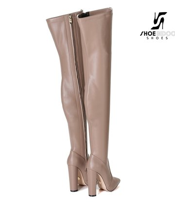 Giaro Giaro Oberschenkel Stiefel TRINKET in taupe Matte