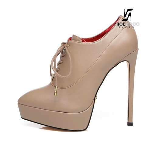 Giaro SNUG | TAUPE | PLATFORM FASHION OXFORD PUMPS