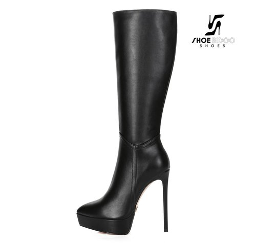 Giaro SARAYA | BLACK | PLATFORM KNEE BOOT