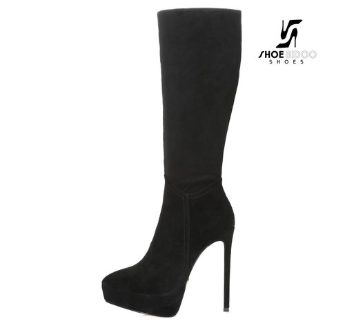 Giaro SARAYA | BLACK VELOUR | PLATFORM KNEE BOOT