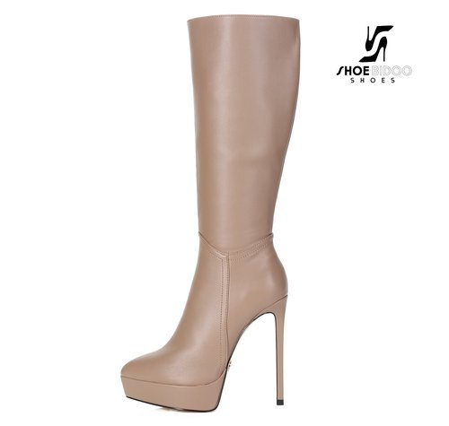 Giaro SARAYA | TAUPE | PLATTFORM KNEE BOOT