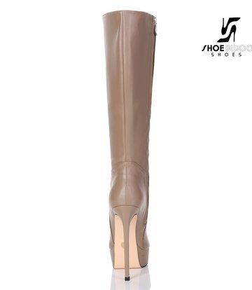 Giaro Giaro Platform knee boots SARAYA in taupe