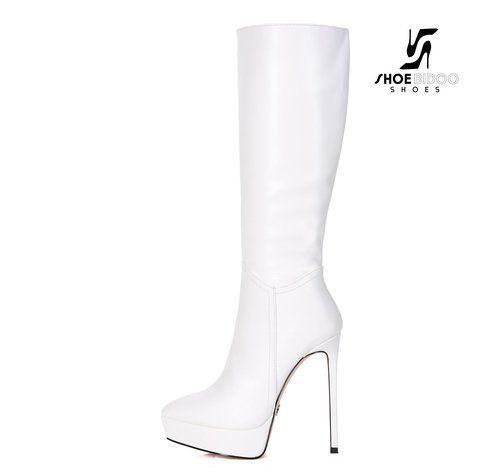 Giaro SARAYA | WHITE | PLATFORM KNEE BOOT