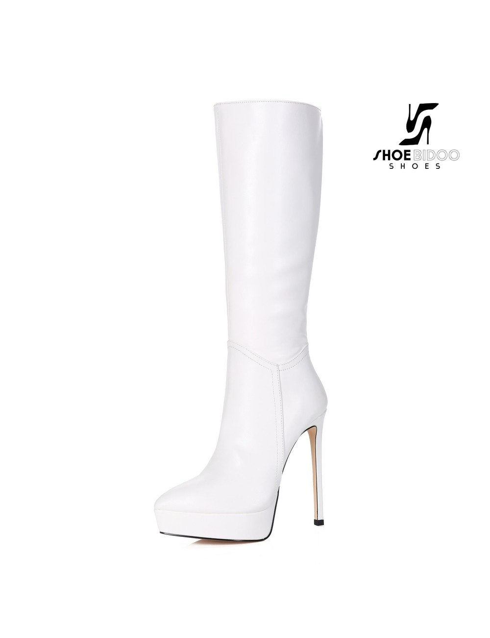 Giaro Giaro Platform knee boots SARAYA in white
