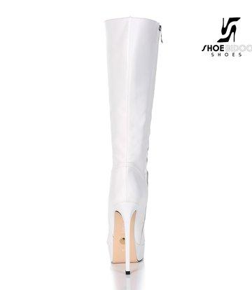 Giaro Giaro Platform knielaarzen SARAYA in wit