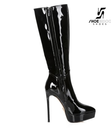 Giaro Giaro Platform Stiefel SARAYA in schwarz lack