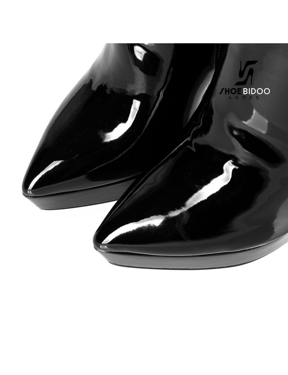Giaro Giaro Platform knielaarzen SARAYA in zwart lak