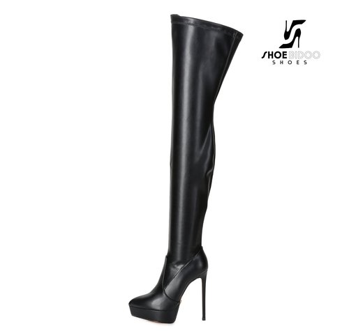 Giaro SPIRE | BLACK | PLATFORM THIGH BOOT