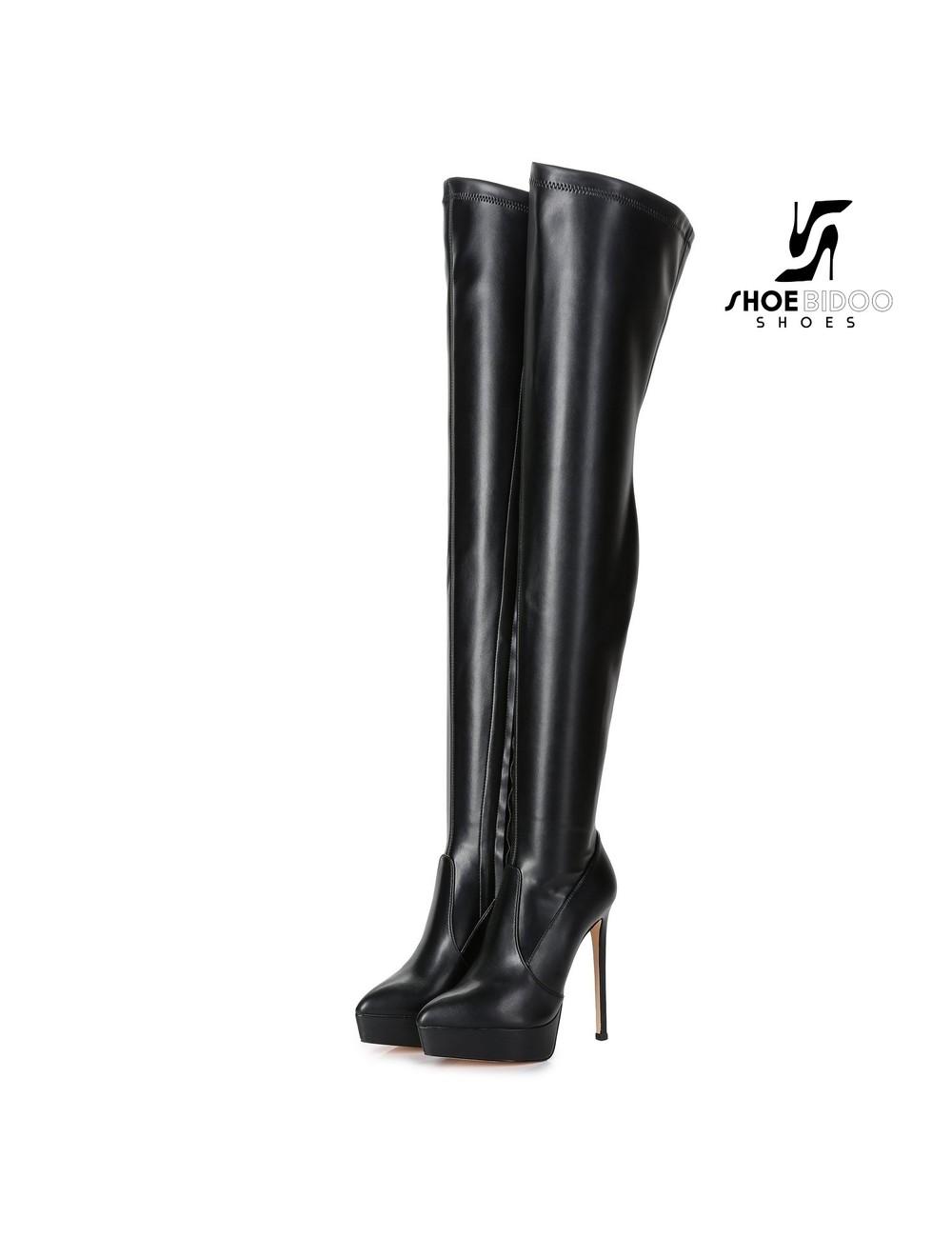Giaro Giaro Platform thigh boots SPIRE in black