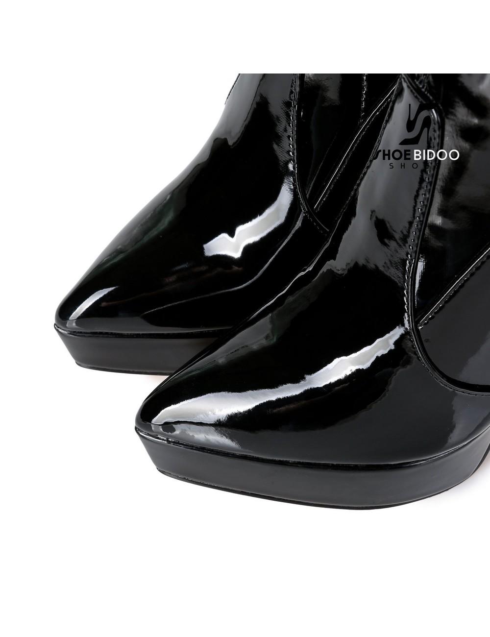 Giaro Giaro Platform dijlaarzen SPIRE in zwart lak