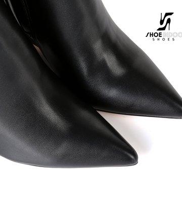 Giaro Giaro knielaarzen met sleehak ELLA in black