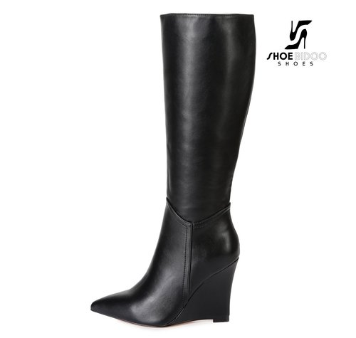Giaro ELLA | BLACK | WEDGE KNEE BOOTS