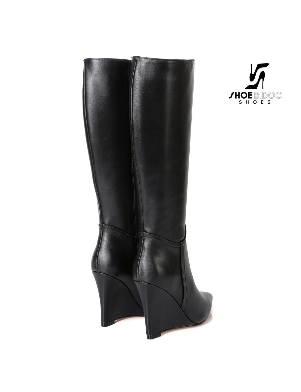 Giaro Giaro knee boots with wedge heel ELLA in black