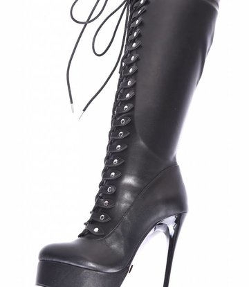 """Giaro Black lace-up ultra """"Galana MAHAUTE"""" knee boots  - OUTLET"""