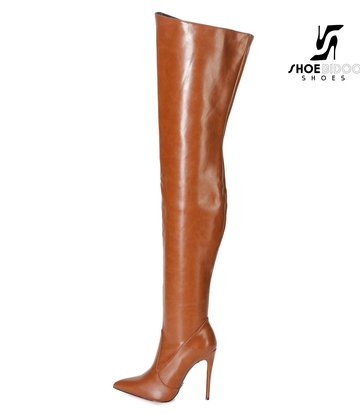 Giaro ARABELLA | BROWN MATTE | THIGH BOOTS | Italian Style