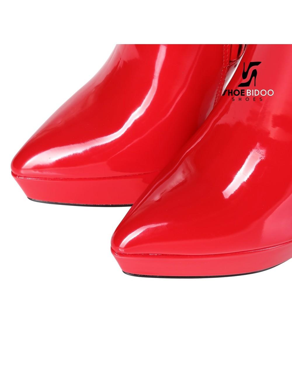 Giaro Giaro Platform knielaarzen SARAYA in rood lak