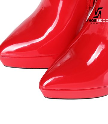 Giaro Giaro Platform knee boots SARAYA in red shiny
