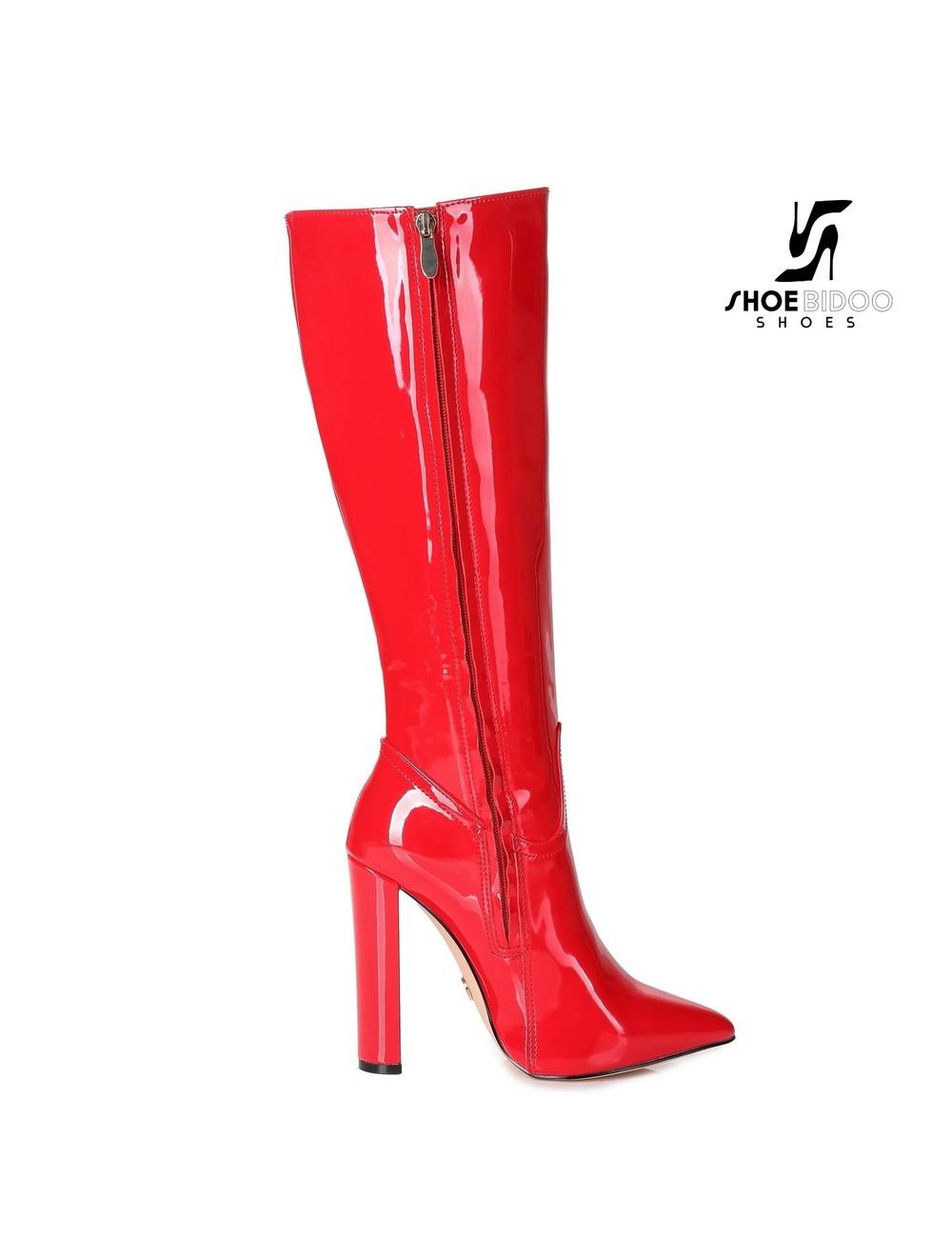 Giaro Giaro fashion knielaarzen TAKEN in rood lak